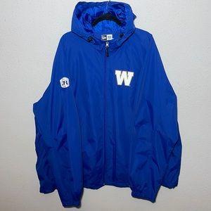 CFL Winnipeg Blue Bombers Full Zip Up Jacket 4XL
